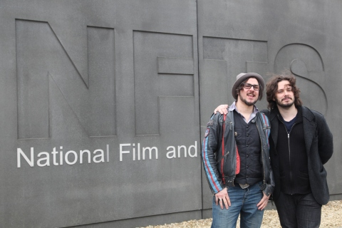 Edgar Wright by NFTS sign