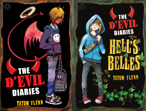 The D-Evil Diaries & Hell's Belles by Tatum Flynn, illustrations Dave Shepherd