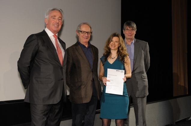 Ken Loach awarding Script Development diploma