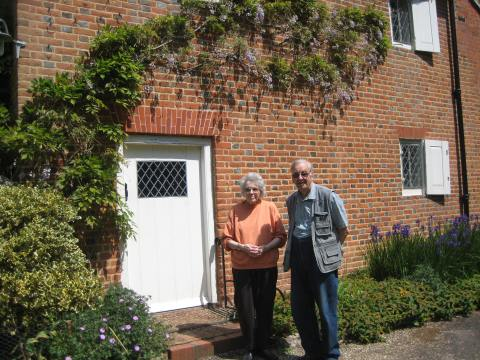 Sue and John Smithson at Jordans Meeting House