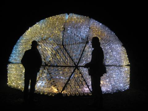 Beacon by Bruce Munro at Waddesdon Manor