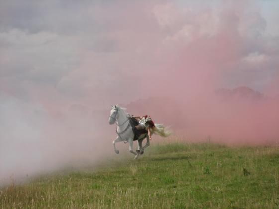 Hetty Feather stunt rider